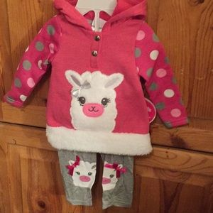 Llama cuteness!   Two pc outfit. 12 mo